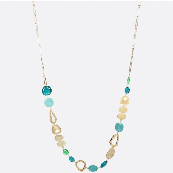 Avenue Jewelry - New Turquoise and Brushed Gold Necklace